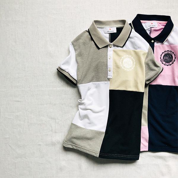 『ジュン アンド ロペ』のカラーブロックポロシャツ
