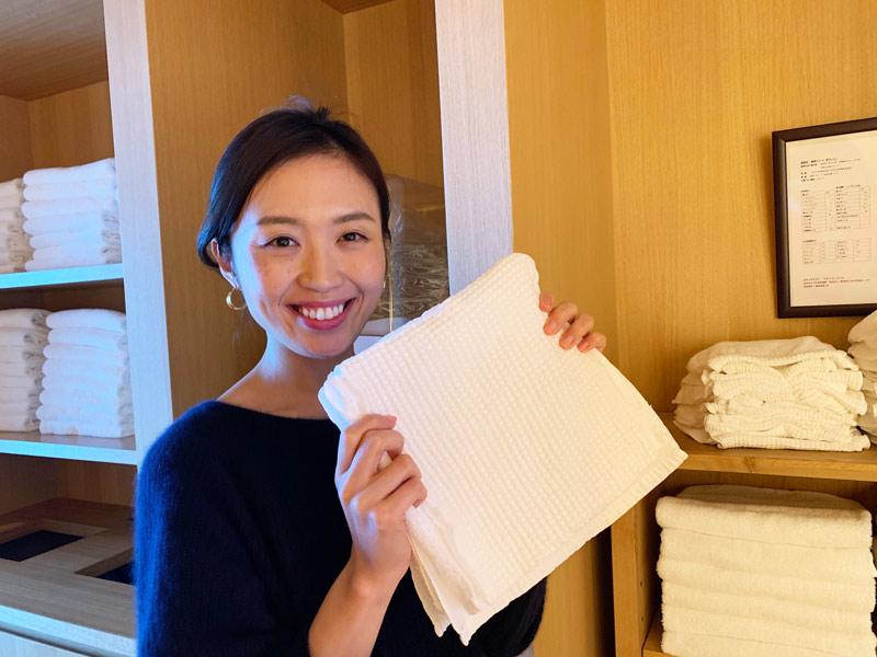 のぼせ防止のタオル