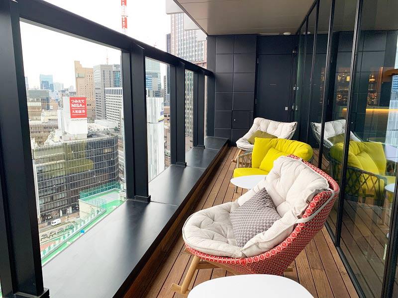 THE GATE HOTEL TOKYO プレミアムラウンジのテラス
