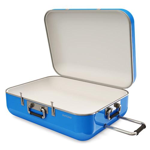 スーツケースの保管 開いた状態