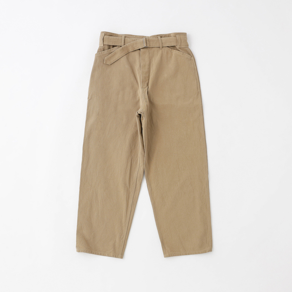 COMOLI×BLOOM&BRANCH/Cotton Twill Belted Pants
