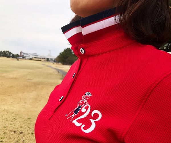 23区GOLF 限定ポロシャツ ソリマチアキラさんの描きおろしデザイン