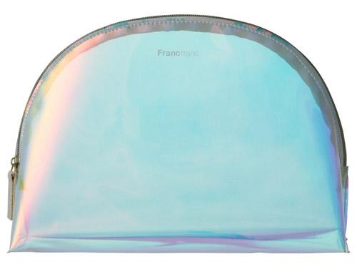 Francfranc【PVC ロゴポーチ M オーロラ】