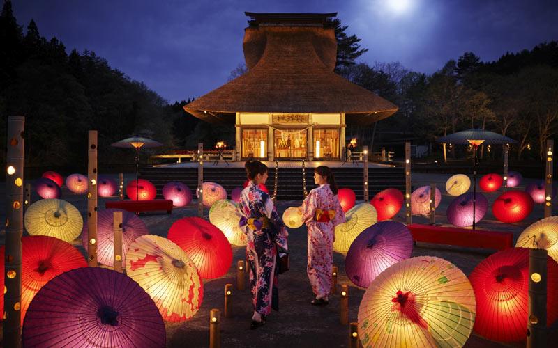 和傘の花道