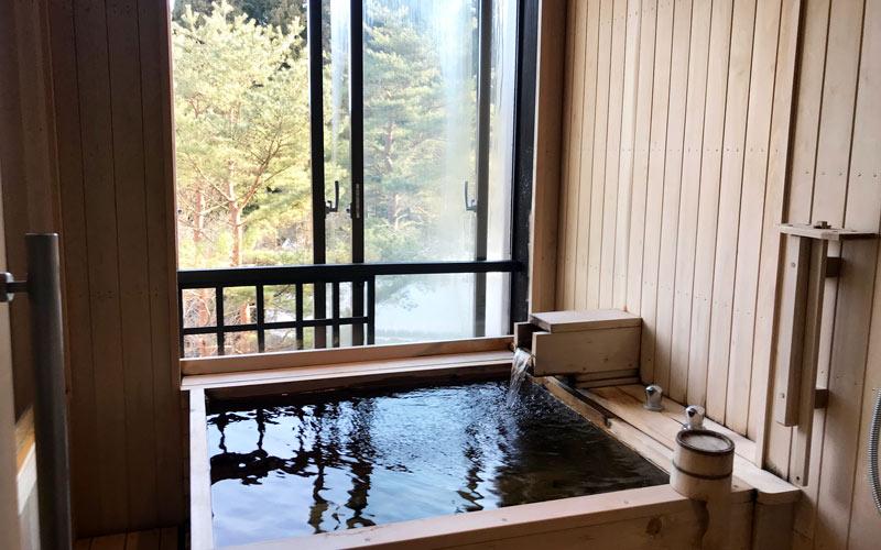 自然を感じながら入浴