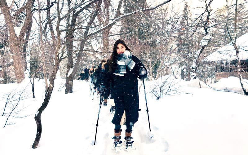 スノーシューハイキング