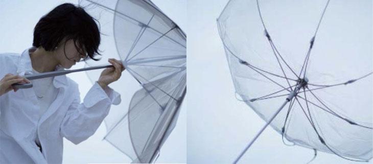 強い風が吹いても折れにくい傘