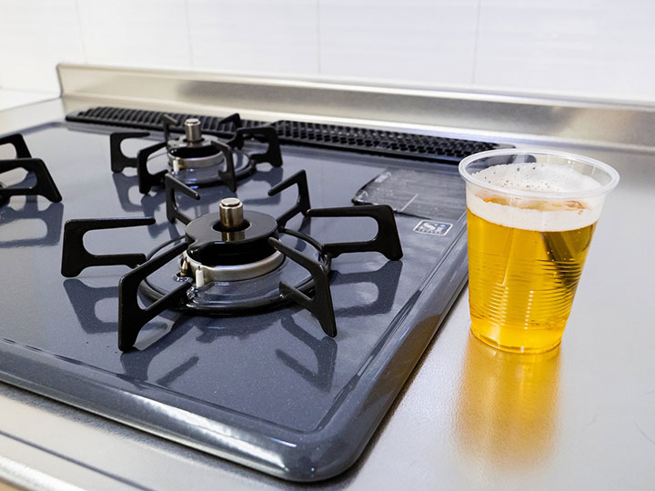 五徳には飲み残しのビールが効く!