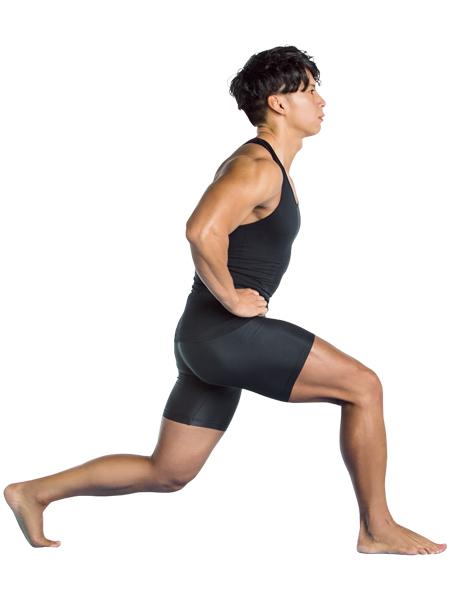 【筋肉体操】フォワードランジ 前に大きく一歩踏み込む