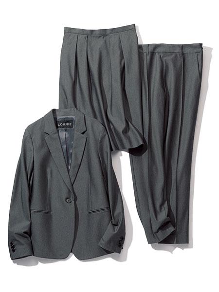 LOUNIE|ジャージー素材スーツ