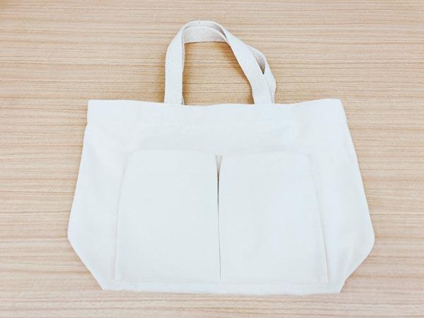 【3】無印良品|インド綿横型マイトートバッグ 生成
