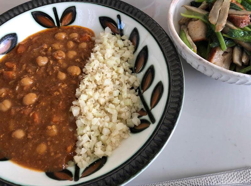「カリフライス」野菜のキーマカレー