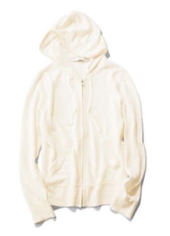 【2】【TIARA】白リネンパーカー