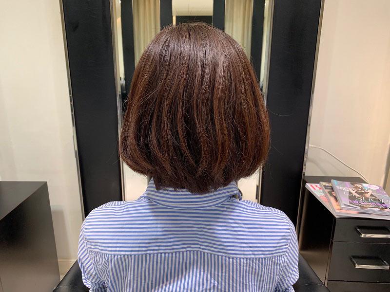 美髪再生トリートメントをする前の髪状態