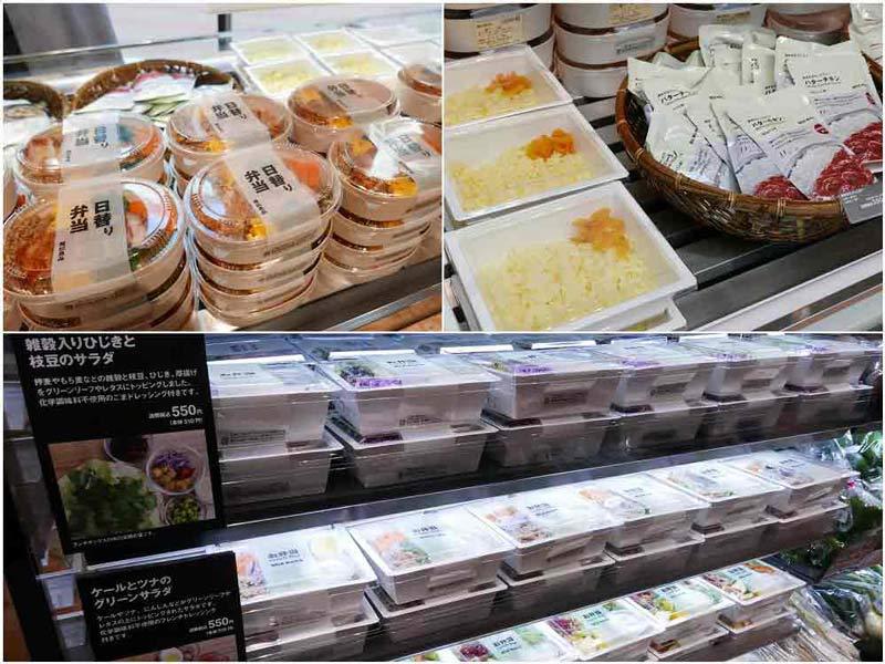 銀座限定の日替わり弁当やサラダ、カレー