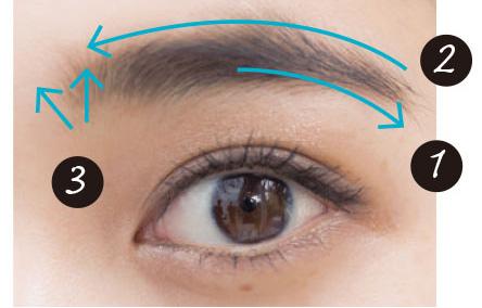 眉毛を描き足す時はこの順序で