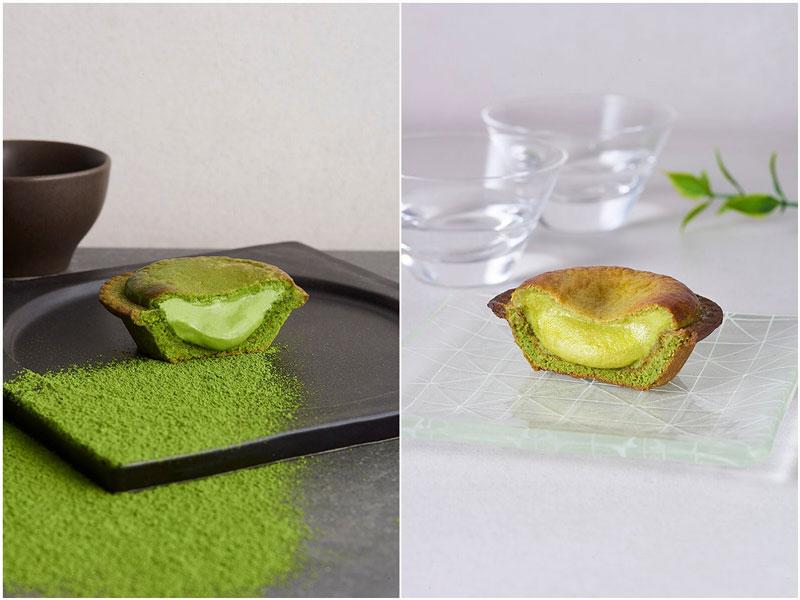 BAKE CHEESE TART(ベイクチーズタルト)「焼きたて抹茶チーズタルト『深緑』『涼』」