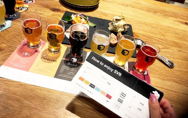 6種のクラフトビール飲み比べできるランチコース