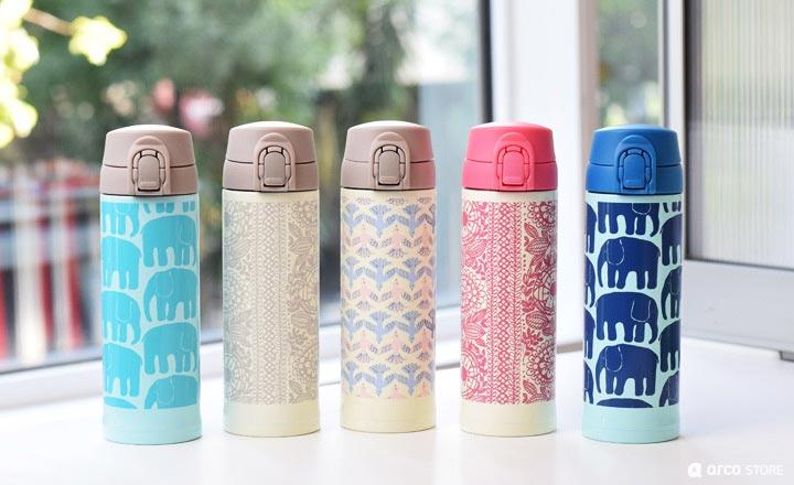 ワンプッシュボトル:保温・保冷機能付き水筒(フィンレイソン)