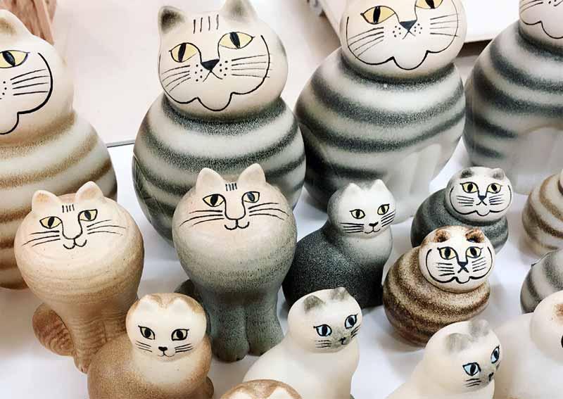 陶器のオブジェ(リサ・ラーソン)