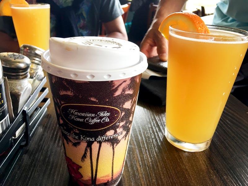 コーヒー/オレンジ