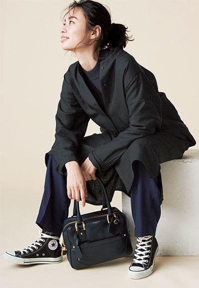 【レリタージュ マルティニーク】の黒ロングシャツ