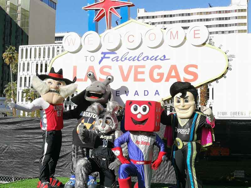 Las Vegas Ultimate Sports Weekend チームのマスコットたち