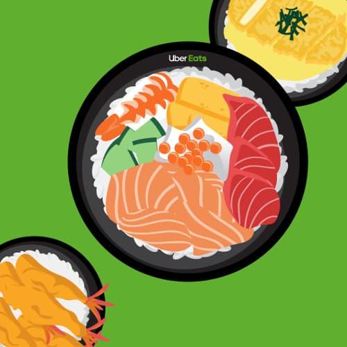 Uber Eats で #どんぶり祭