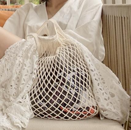 【無印良品】コットンメッシュバッグ
