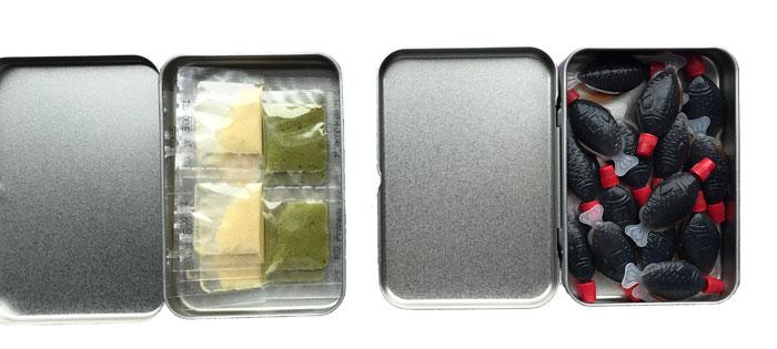 無印良品 ブリキケース入り「醤油」「柚子塩・抹茶塩」