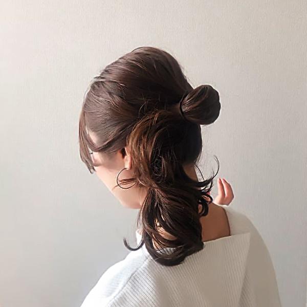 アップスタイル|ゴム1本でつくるモテ系まとめ髪の簡単ヘアアレンジ