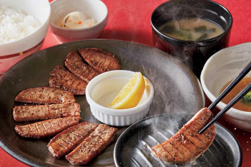 牛タン定食[ご飯・味噌汁・漬物付き]