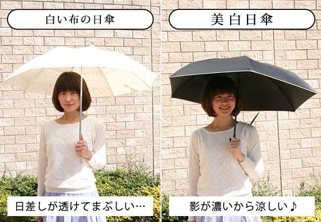 美白日傘 長く使える完全遮光