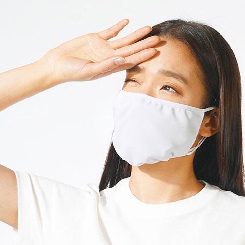 フェリシモ さっと着脱で本格ケア 大型設計のUVカット紫外線対策マスク