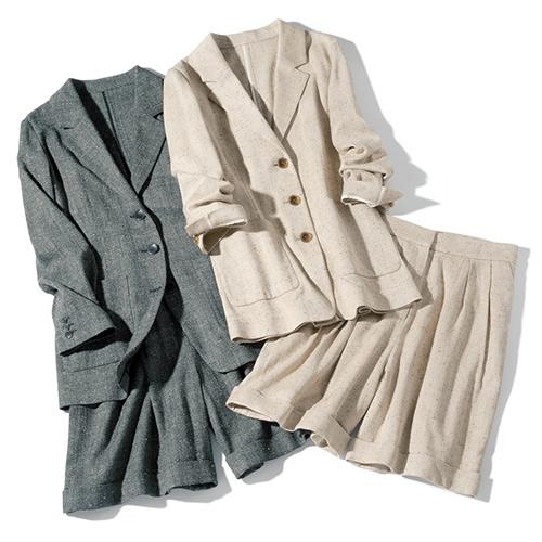 【デミルクス ビームス】テーラードジャケット&パンツ 2色展開