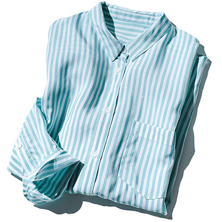 「サクレクール」のとろみストライプシャツ