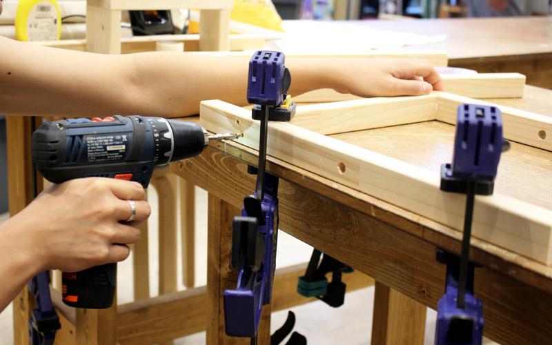 ロの型や、コの字家具が作りやすい