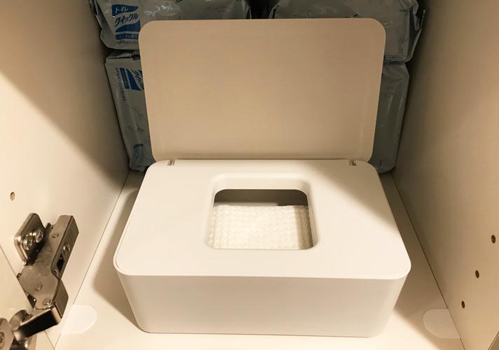 無印良品「ポリプロピレンウェットシートケース」 トイレ用ウェットシート