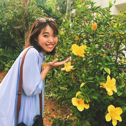 歩きながらお花を楽しむ