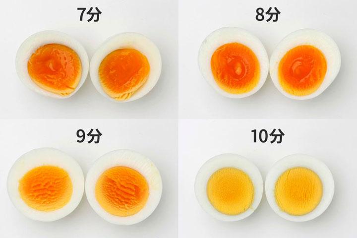 卵の茹で時間 お好みの固さに調理