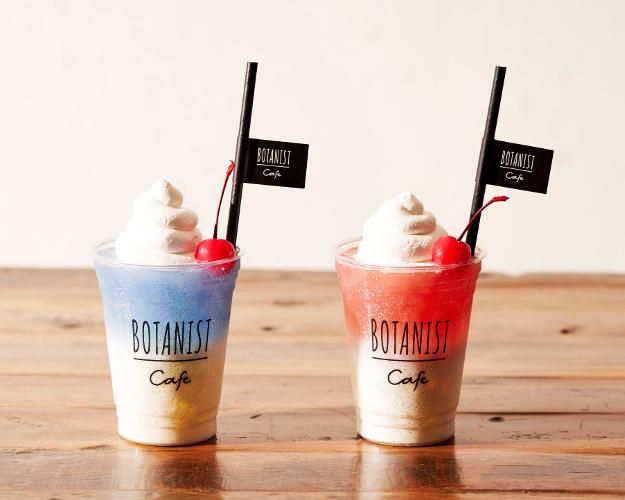 BOTANIST cafe「ハイビスカスミルクティー」「バタフライピーミルクティー」