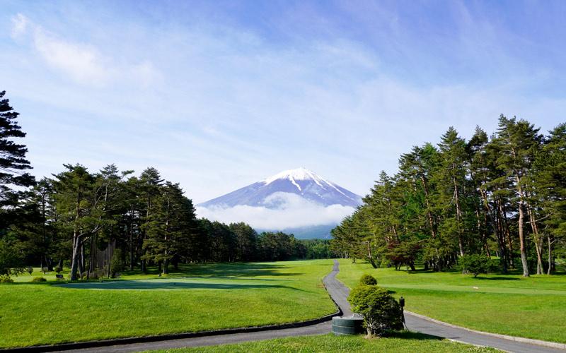 コース先の富士山