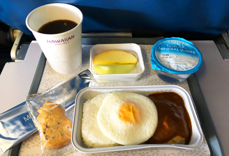 ハワイアン航空 機内食