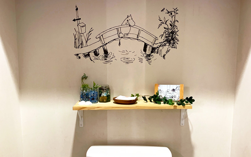ムーミンカフェ トイレ