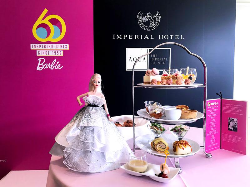 帝国ホテル バービーデビュー60周年 アフタヌーンティー