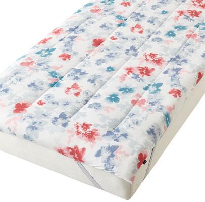 ふわろ ベッドパッド フラワー マルチ