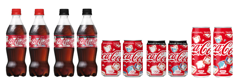 「コカ・コーラ」「コカ・コーラ ゼロ」コールドサインデザイン