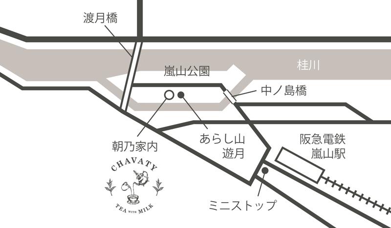 CHAVATY チャバティ kyoto arashiyama 地図