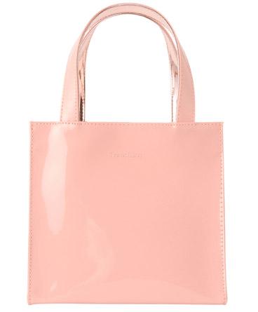 Francfrancレイングッズ エナメルバッグ ピンク