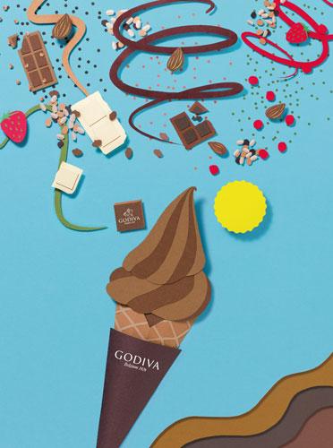 ゴディバ「MY オリジナル ソフトクリーム」